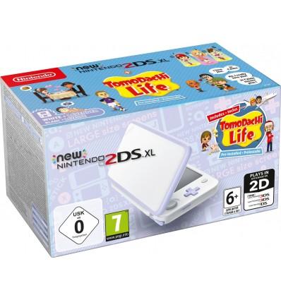 New Nintendo 2DS XL Blanco & Lavanda + Tomodachi Life