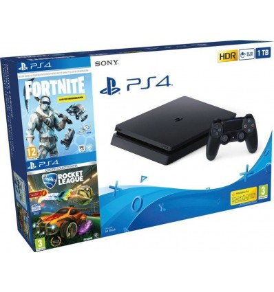 Sony PS4 Pro 1TB + Fortnite: Lote de Criogenización + Rocket League: Edición Coleccionista
